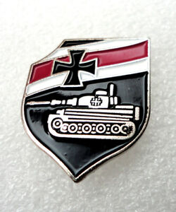 ZP German Heavy Tank Tiger 1 Shield pin badge Panzer Division Wehrmacht Armoured