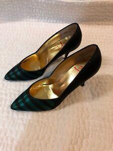 3a892b41f Dolce By Pierre Women s So 8M Pump Heels Formal Green   Black ...