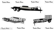 (3 Sets) Trailer Plans-8x18 Car Trailer Plus 8x18 & 7x14 Utility Trailers. #1