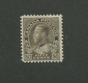 Canada 1925 King George V Admiral Issue Fine-Very Fine 50c Stamp #120 CV $90