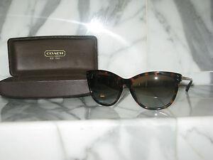 270628abb205 Coach Women s Dark Tortoise Gold Sunglasses with Case. Authentic ...