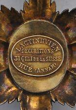 """Ordre du Dragon d'Annam, Officier, signé de la maison """"Lactinhvien"""" à Hué"""