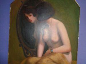 Nu féminin - Jean Jannel - Huile sur Toile - Vers 1920 - 73 cm X 60 cm.