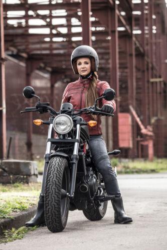 MODEKA IONA LADY Motorradjacke Damen Büffelleder Stretch Thermoweste Protektoren