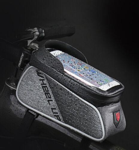 Touch Screen Bike Frame Bags MTB Front Top Bag Tube Bicycle Panniers Waterproof