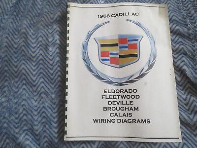1968 CADILLAC DEVILLE SEVILLE ELDORADO FLEETWOOD WIRING DIAGRAMS MANUAL |  eBay