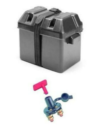 Batteriehauptschalter Batterie Kasten Halterung Boot Kasten Batteriekasten inkl