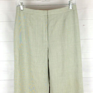 Ann-Taylor-LOFT-womens-size-6-gray-flat-front-mid-rise-lined-tapered-dress-pants