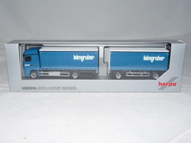 Herpa 932981 Mercedes-Benz Actros Bigspace GAPL-Hängerzug-Leimgruber (CH) 1....