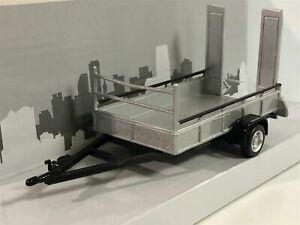 Car-Trailer-One-Axle-Silver-Scale-1-43-by-Cararama