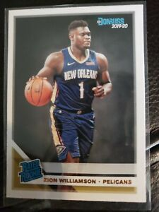Zion Williamson 2019-20 Donruss Rated Rookie Base RC.