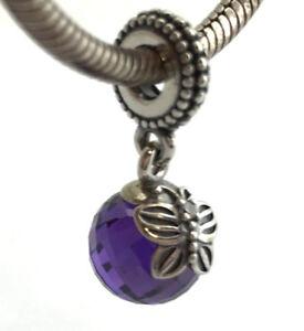 charm pandora farfalla viola