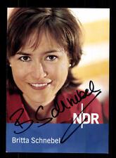Britta Schnebel Autogrammkarte Original Signiert # BC 92637