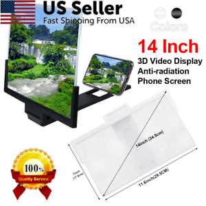 """14"""" Mobile Cell Phone Screen Magnifier Enlarged Amplifier Stand Bracket Folding"""