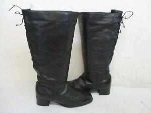 Regence Canada Black Leather Knee High