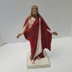 Vintage-Ceramic-Hand-Painted-11-5-034-Jesus-Christ-Figurine-1993
