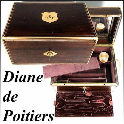 Crest Of Diane De Poitiers Diversified Latest Designs Aucoc Aine Paris Antique French Dressing Box Casket