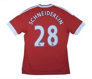 Manchester United 2015-16 ORIGINALE Maglietta schneiderlin #28 (eccellente) M