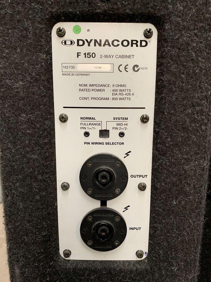 Højtallere, Dynacord F150
