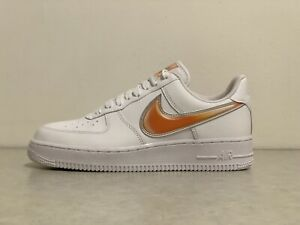 Details zu Nike Air Force 1 Low 'Oversized Swoosh' [AO2441 102] Men Size 7 White