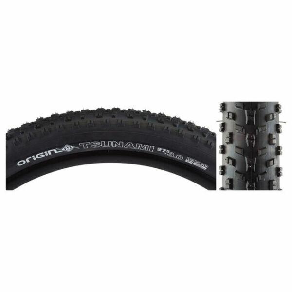 Origin8 Tsunami 650b 27.5x3.0 120Tpi Dual Compound Folding Plus Bike Tires Pair