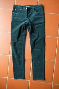 Marie Lund Straight Fine Corduroy Jeans Cord Trousers Fir Green 38