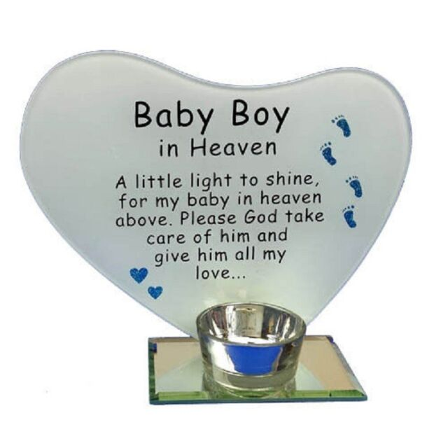 Photo Poem Plaque With Tea Light Design Candle Holder Baby Boy In