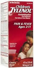 Tylenol Children's Pain Reliever Oral Suspension Liquid - Cherry - 4 oz (3 PACK)