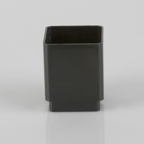 PLASTIC SQUARE DOWNSPOUT STRAIGHT DOWNPIPE CONNECTOR 65mm VARIOUS COLOURS
