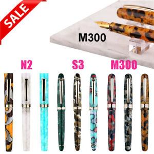 Moonman-S3-N2-M300-Acrylic-Fountain-Pen-Gift-Beautiful-Colored-Barrel-EF-F-Nib