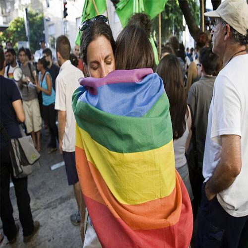 90cm x 150cm Rainbow Flag 3x5 FT Polyester Flag Gay Lesbian Pride Peace Flags