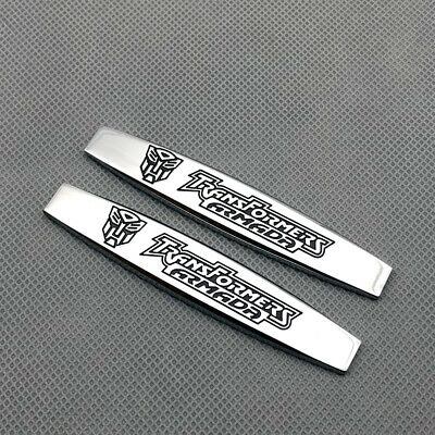 3D Chrome Rear Lid Trunk MUGEN POWER Emblem Logo Side Wing Fender Badge Sticker