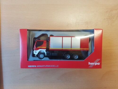 """nuevo Herpa 094610-1//87 Iveco Trakker cargador de cambio-camiones bomberos/""""/"""""""