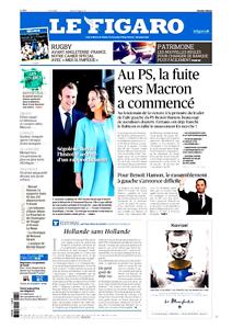 Le Figaro 31.01.2017 N°22543*Fuite vers MACRON*TRUMP*RUGBY*PATRIMOINE-BANQUES