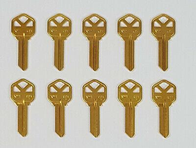 10 Kwikset KW1 Brass Key Blank