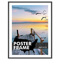 36 X 12 Custom Poster Picture Frame 36x12 - Select Profile, Color, Lens, Backing