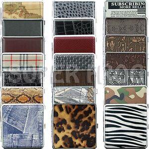 Cigarette-Case-King-Size-Metal-Box-Holder-Leather-Cases-Tobacco-20-Cigarettes