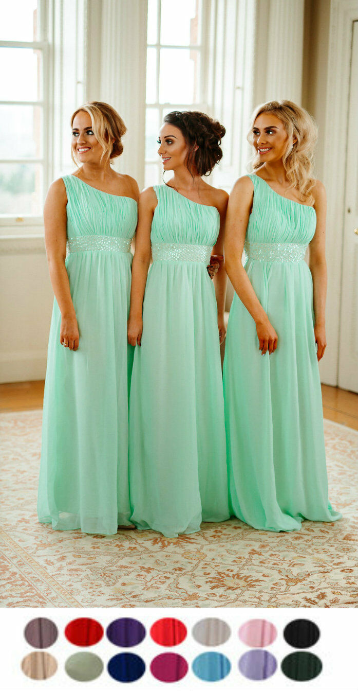 Leah 1 Shoulder Bridesmaid Dress Chiffon Colour Sample - This Is Not A Dress