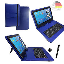 Deutsch Tastatur Hülle - Samsung Galaxy Tab A 10.1 Zoll - Tablet Cover Case Blau