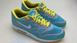super popular 819c5 b86d3 Image is loading Nike-Air-Max-Lunar-1-Yellow-Blue-ID-