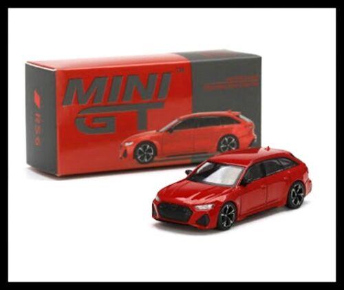 MINI GT 194 1//64 Audi RS6 Avant Carbon Black Edition Tango Red RHD