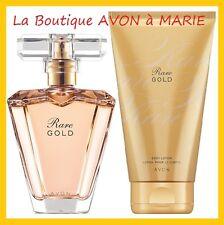 LOT EAU de Parfum RARE GOLD + creme corps de chez AVON neuf