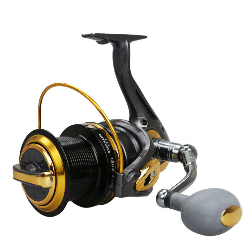12+1BB 4.6 1 TF8000-110000 Large Long Shot Spinning Fishing Rod Reel Line Wheel