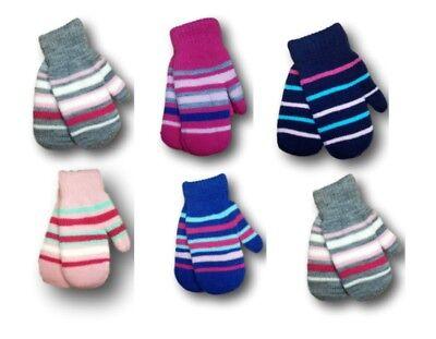 Girls Toddler Children Kids Soft Toy Terry Winter Mittens Gloves Size 2-4 Years