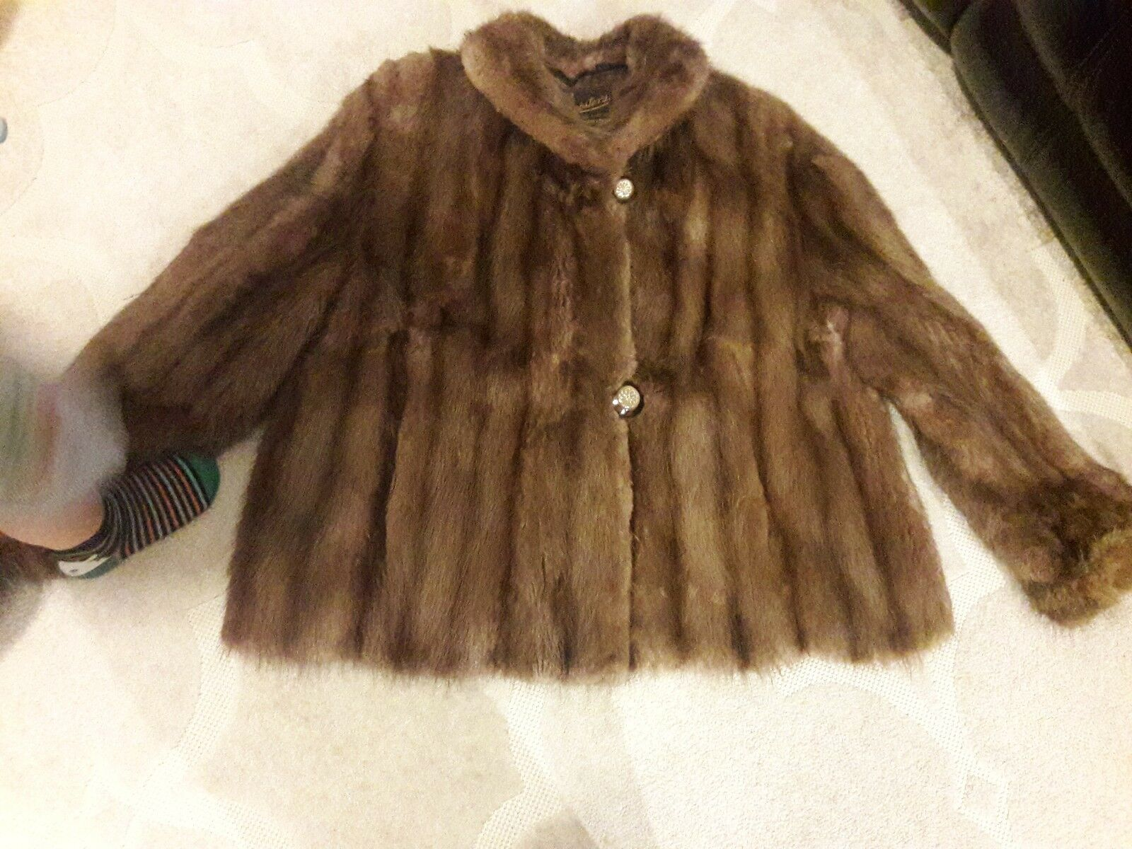 Fabulous real mink fur coat genuine