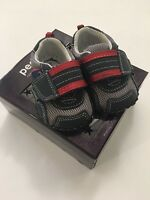 Pediped Baby Boys Casual Soft Sole Shoes Size 0-6 Months Adrian Navy Blue Grey