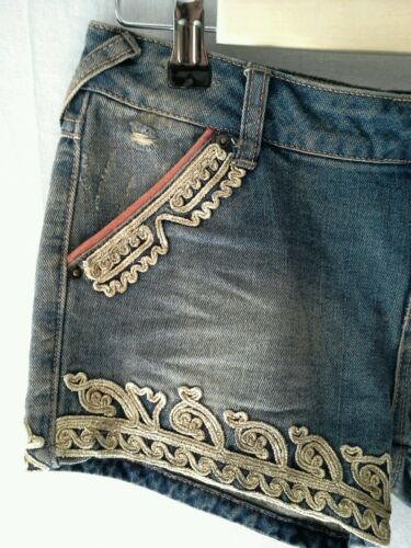 Jean Embellished Shorts People Free 98 24 Taglia Majestic Uxw7OHS