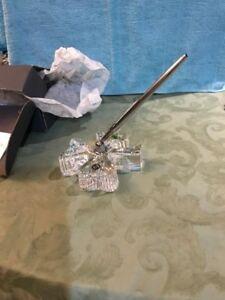 Details About Vintage Waterford Shamrock Clover Desk Set Pen Holder And Pen Crystal Silver New