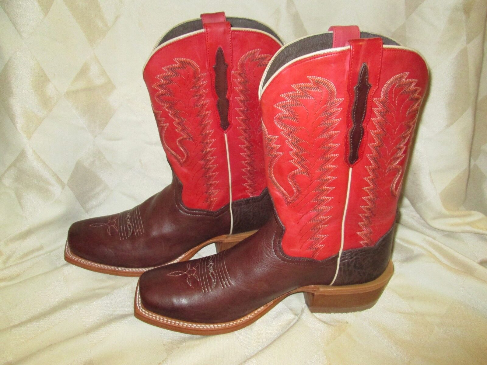 Para Hombre Dan campamento botas de vaquero occidental Post Station DP4122 tamaño 10D
