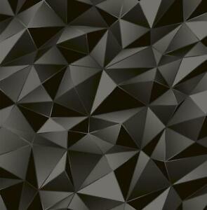 Wallpaper-Designer-Black-Gray-Modern-Shaded-Geometric-Angular-Shapes-SMOOTH